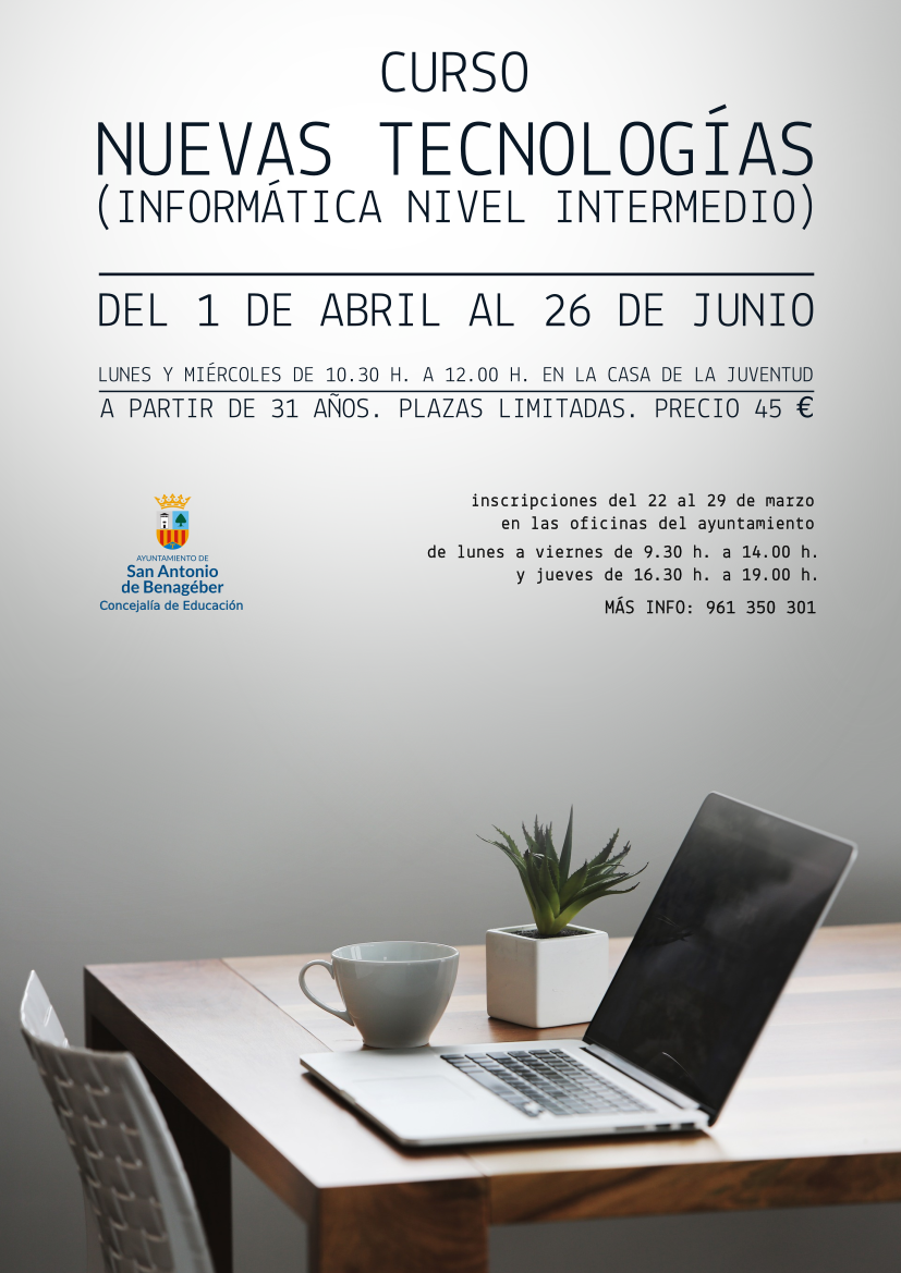 cartel informática adultos abril